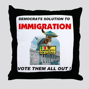 ILLEGAL VOTERS Throw Pillow