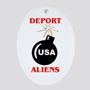 ILLEGAL VOTERS Ornament (Oval)
