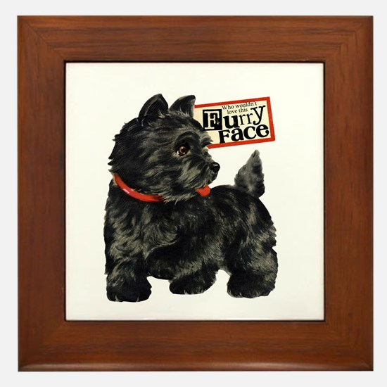 Terrier Framed Tile