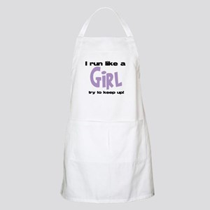 I run like a girl try to kee Apron