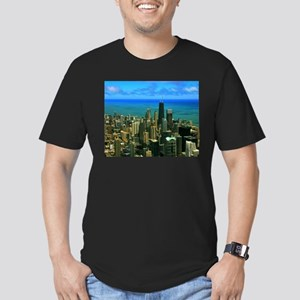 Chicago Men's Fitted T-Shirt (dark)