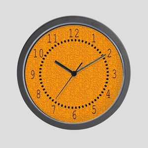 Rough Orange 01 Wall Clock