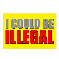 I Could Be Illegal Postcards (Package of 8)