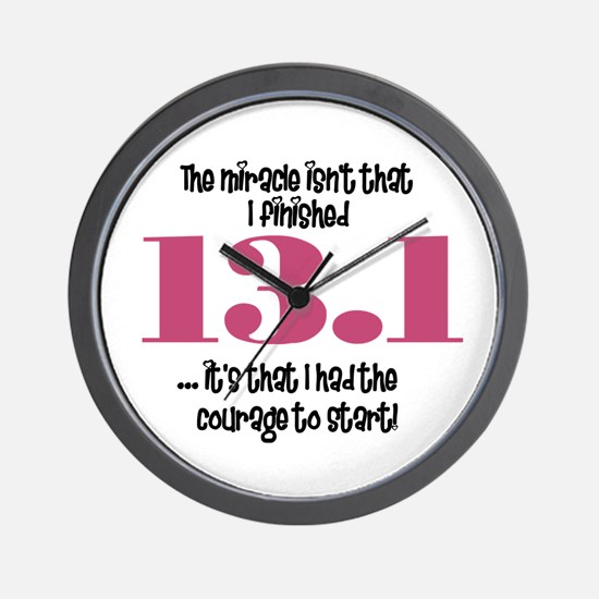 13.1 Courage to Start Wall Clock
