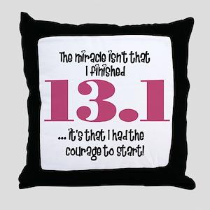 13.1 Courage to Start Throw Pillow