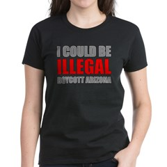 Could Be Illegal - Boycott AZ Women's Dark T-Shirt