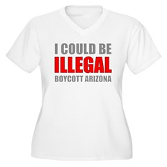 Could Be Illegal Anti-AZ Women's Plus Size V-Neck