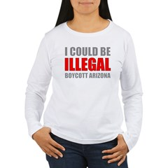 Could Be Illegal - Boycott AZ Women's Long Sleeve
