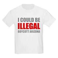 Could Be Illegal - Boycott AZ Kids Light T-Shirt