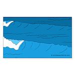 Waves - Sticker (Rectangle 50 pk)