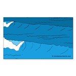 Waves - Sticker (Rectangle 10 pk)