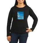 Waves - Women's Long Sleeve Dark T-Shirt