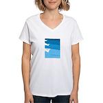 Waves - Women's V-Neck T-Shirt
