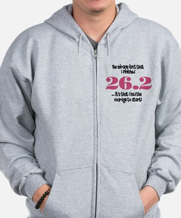 26.2 Courage to Start Zip Hoody