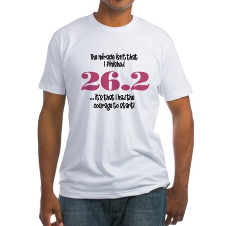 26.2 Courage to Start Fitted T-Shirt