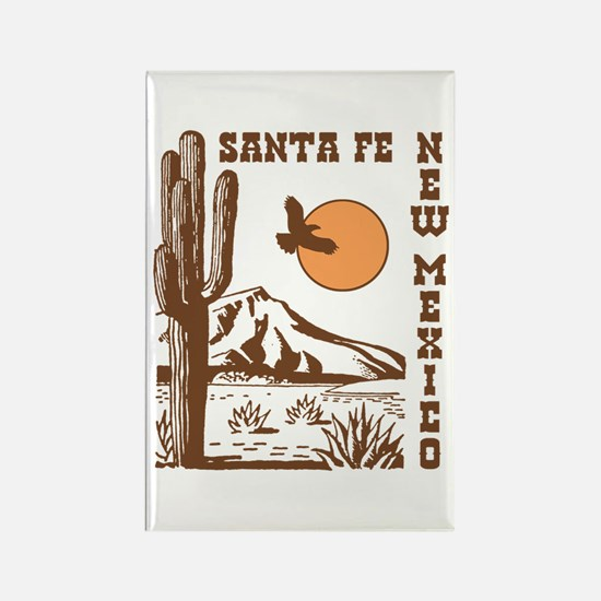 Santa Fe New Mexico Rectangle Magnet