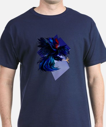 Black Fighting Rooster T-Shirt