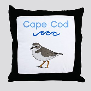 Cape Cod Piping Plover Throw Pillow