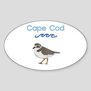 Cape Cod Piping Plover Sticker (Oval)