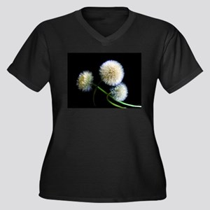 Make a Wish Women's Plus Size V-Neck Dark T-Shirt
