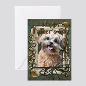 Stone Paws ShihPoo Greeting Card