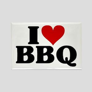I Heart BBQ Rectangle Magnet