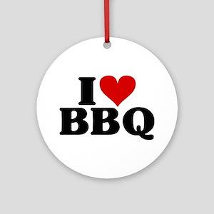 I Heart BBQ Ornament (Round)