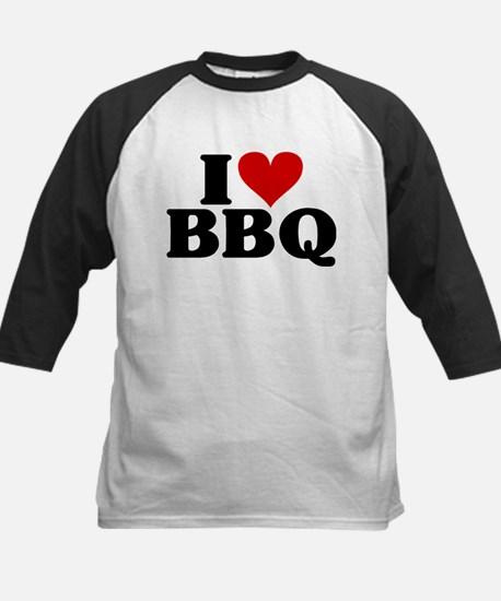 I Heart BBQ Kids Baseball Jersey