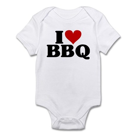 I Heart BBQ Infant Bodysuit