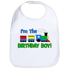 Birthday Boy TRAIN Bib