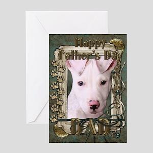 Stone Paws Pitbull - Pup Greeting Card