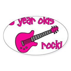 3 year olds Rock! Sticker (Oval)