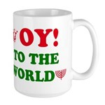 Oy to the World Large Mug