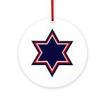 American Jewish Star Ornament (Round)