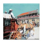 Stagecoach by RD Riccoboni Tile Coaster