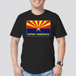 DEPORT DEMOCRATS Men's Fitted T-Shirt (dark)