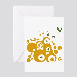 Birds In Spherical Flight Greeting Card