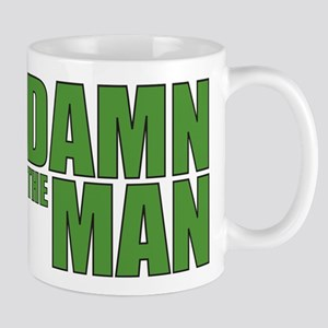 Damn The Man Green Mug