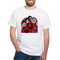 Skulls & Roses White T-Shirt