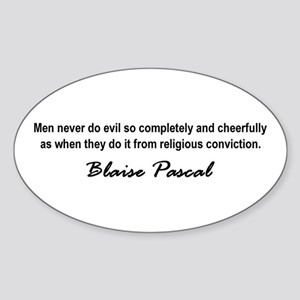 Pascal Religion Sticker (Oval)