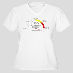 Debt-o-Meter Women's Plus Size V-Neck T-Shirt