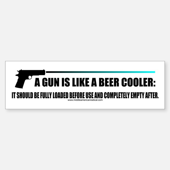 Guns and Beer Sticker (Bumper)