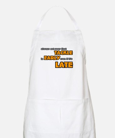Tackle Early Rugby Humor BBQ Apron