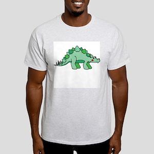 Green Dinosaur Ash Grey T-Shirt