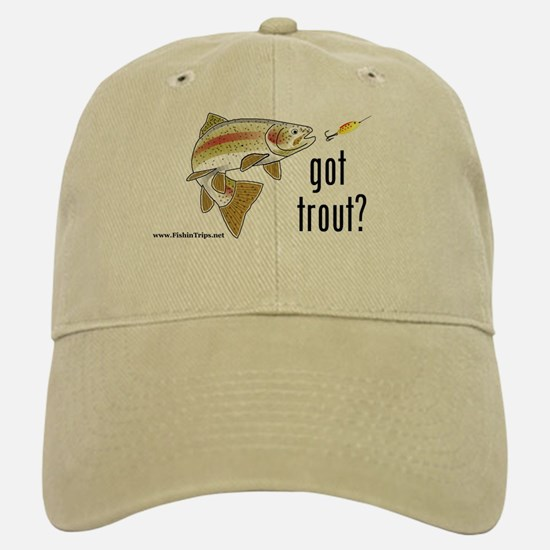 """'Got Trout?"""" Ball Baseball Baseball Cap"""