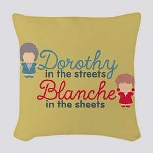 GG Dorothy Blanche Woven Throw Pillow