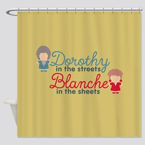 GG Dorothy Blanche Shower Curtain