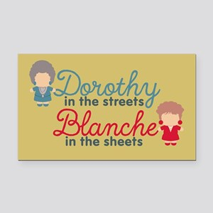 GG Dorothy Blanche Rectangle Car Magnet