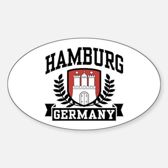 Hamburg Germany Sticker (Oval)