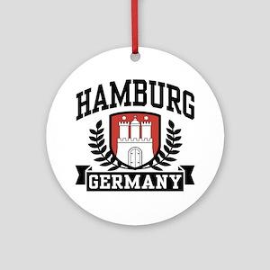 Hamburg Germany Ornament (Round)